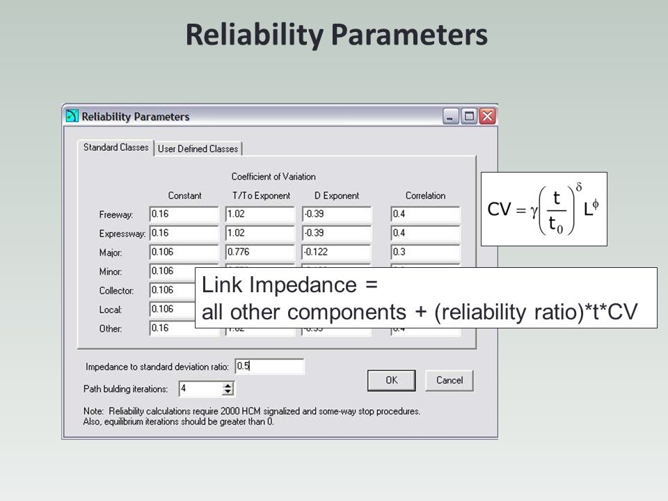 Reliability Parameters