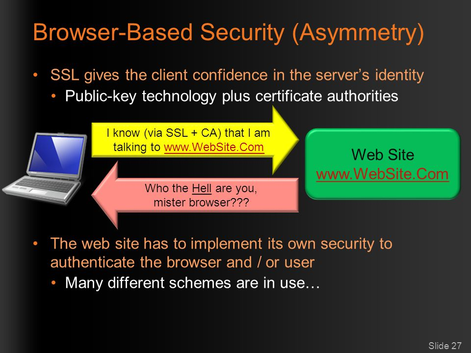 Browser-Based Security (Asymmetry)