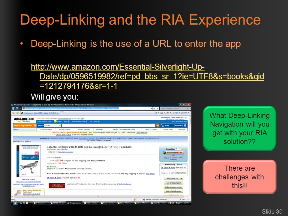 Deep-Linking and the RIA Experience