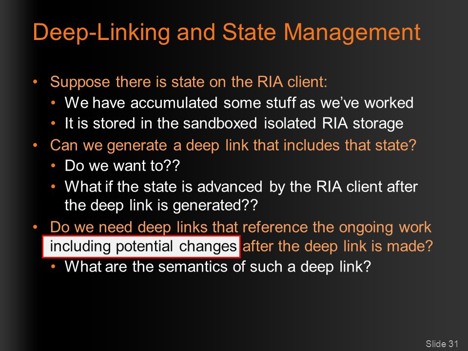 Deep-Linking and State Management