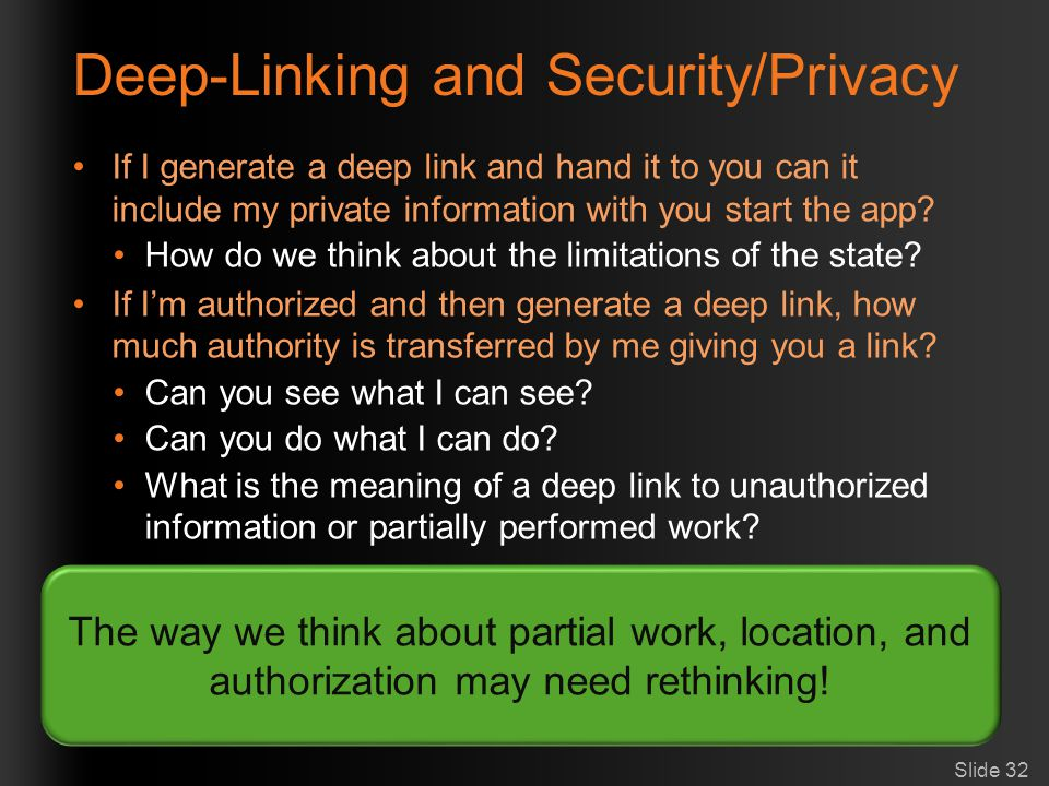 Deep-Linking and Security/Privacy