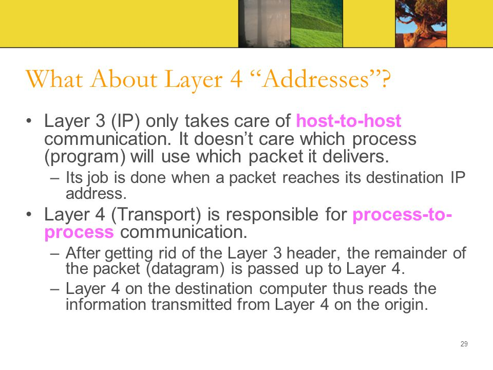 What About Layer 4 Addresses
