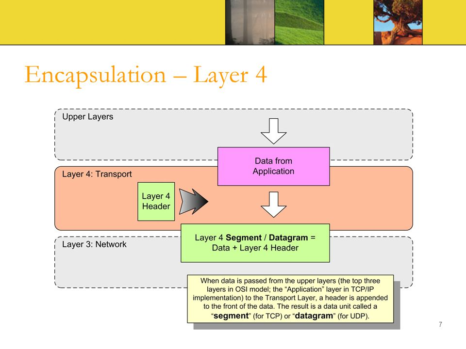 Encapsulation – Layer 4