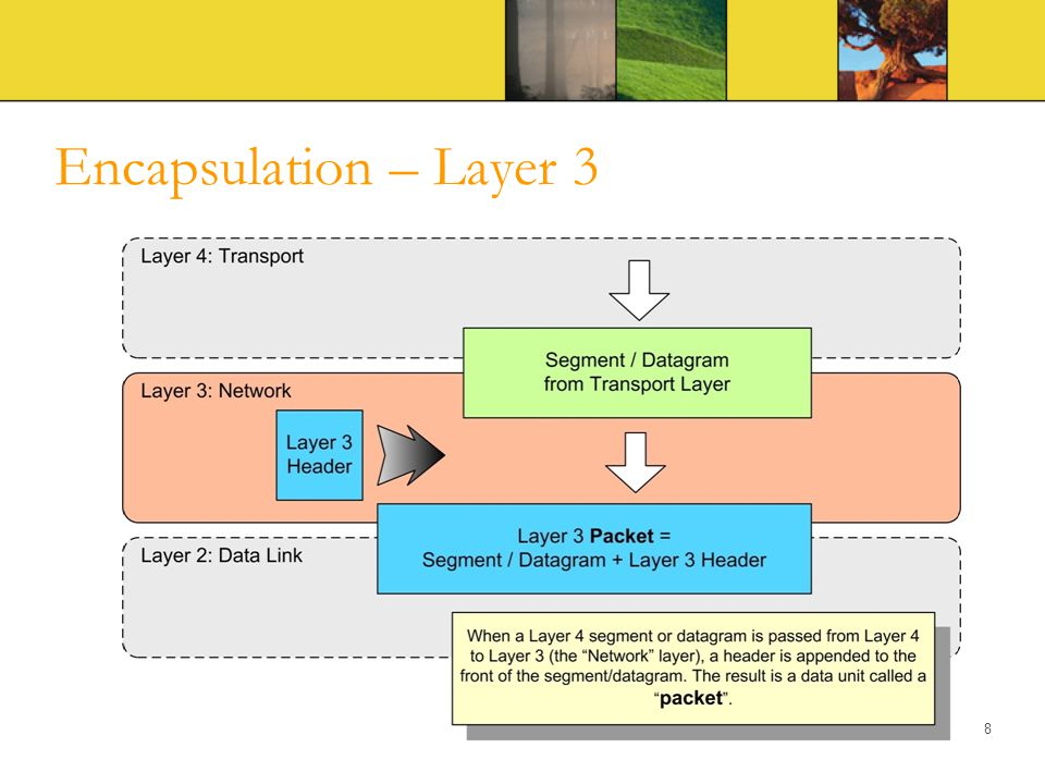 Encapsulation – Layer 3