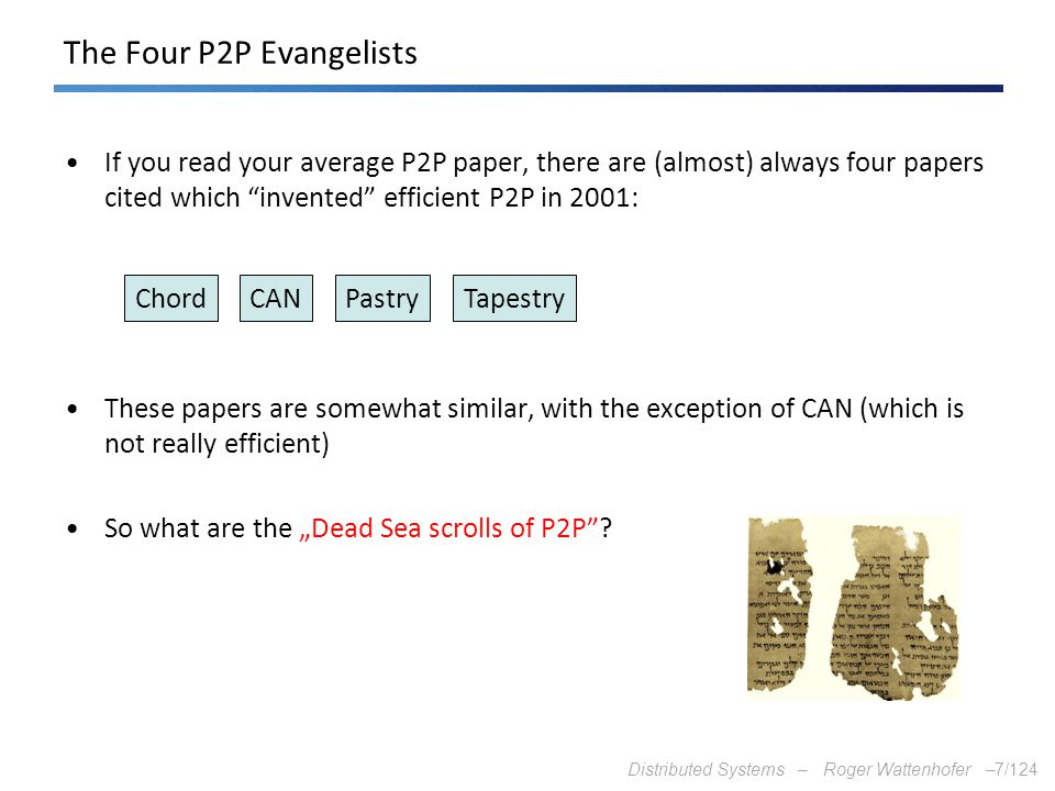 The Four P2P Evangelists