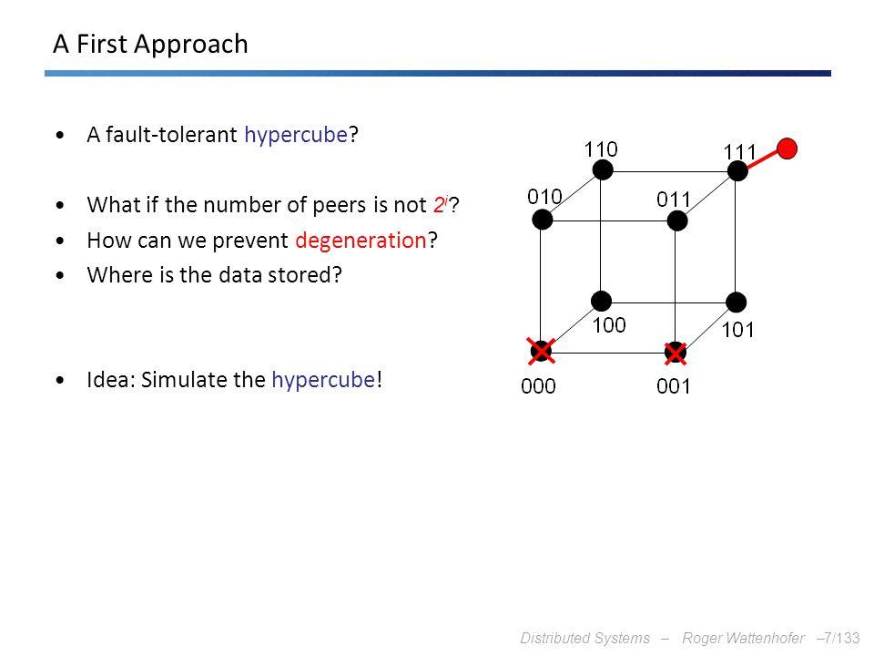 A First Approach A fault-tolerant hypercube