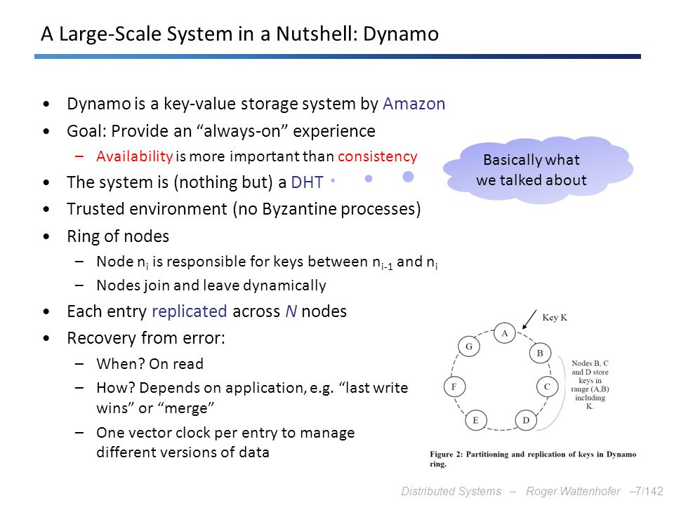 A Large-Scale System in a Nutshell: Dynamo