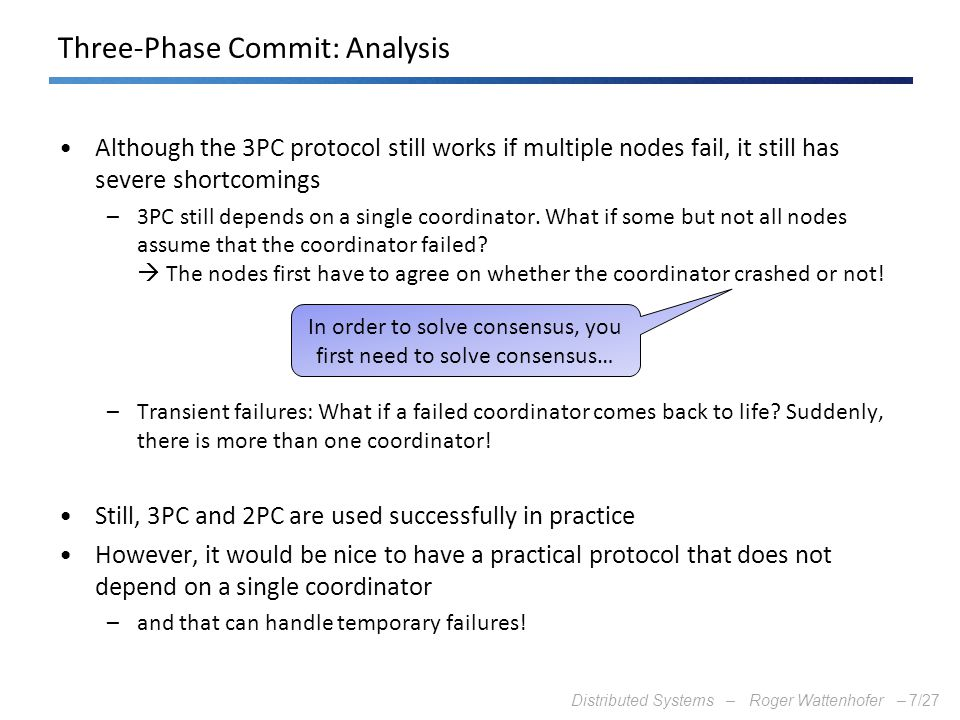 Three-Phase Commit: Analysis