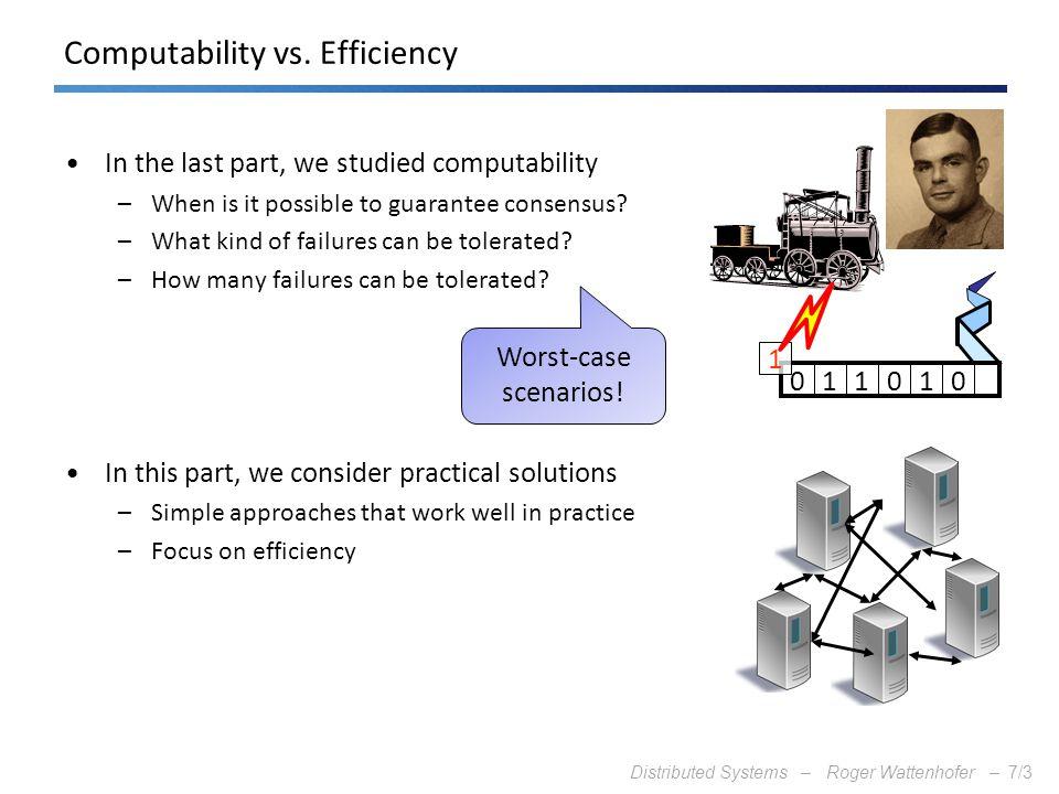 Computability vs. Efficiency