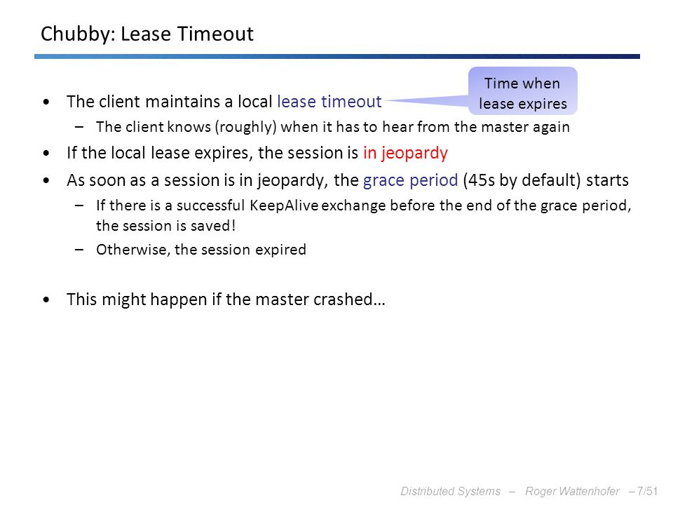 Time when lease expires