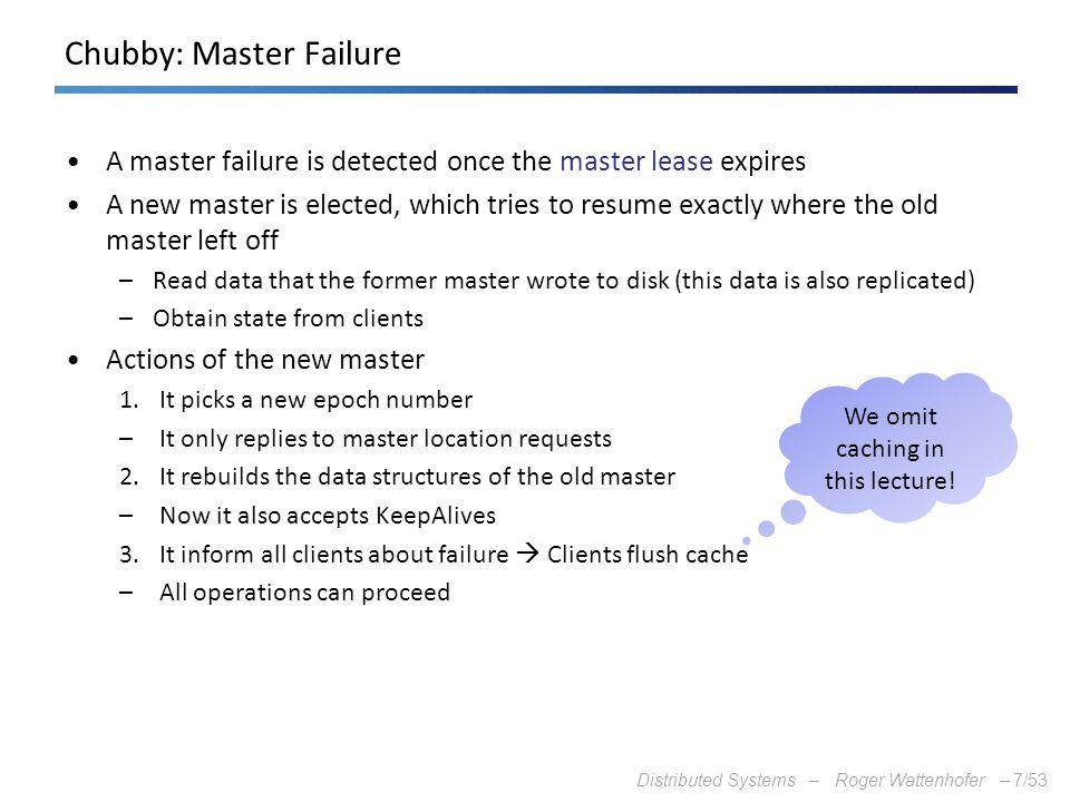 Chubby: Master Failure