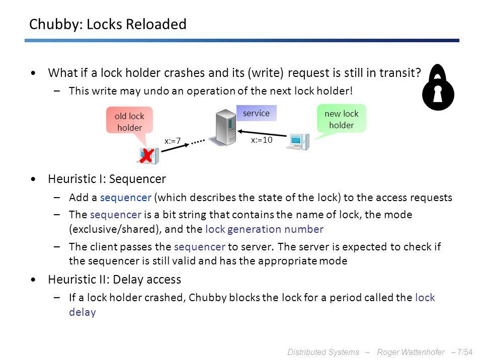 Chubby: Locks Reloaded