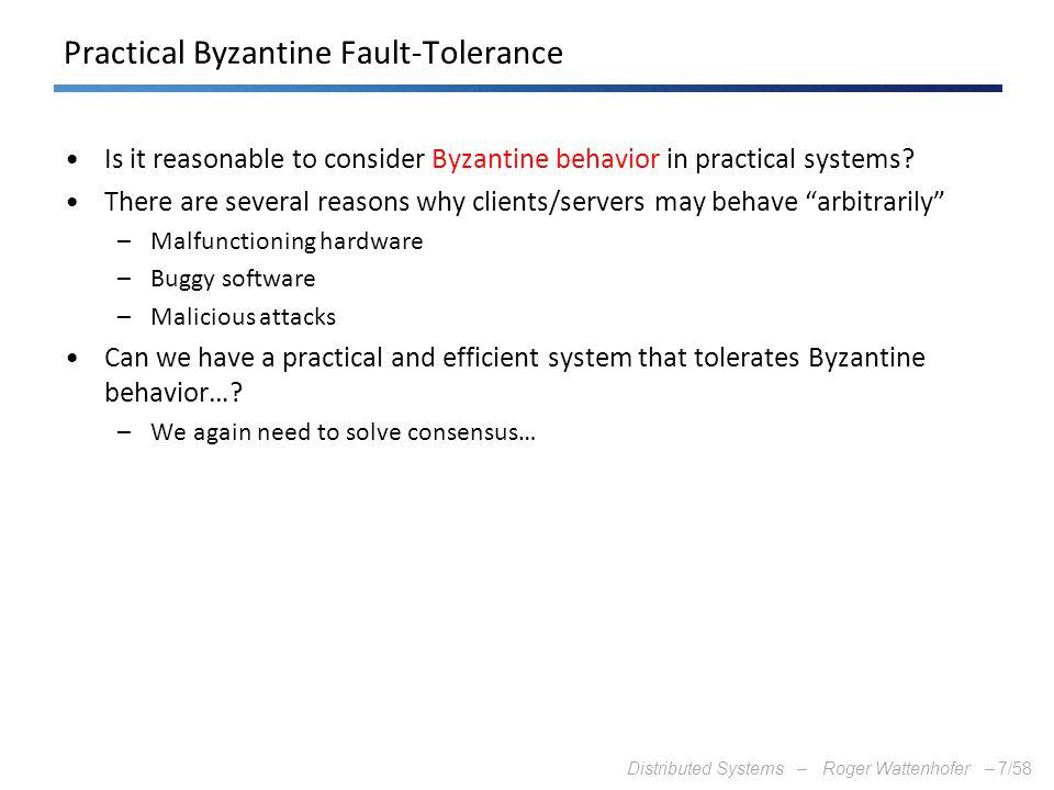 Practical Byzantine Fault-Tolerance