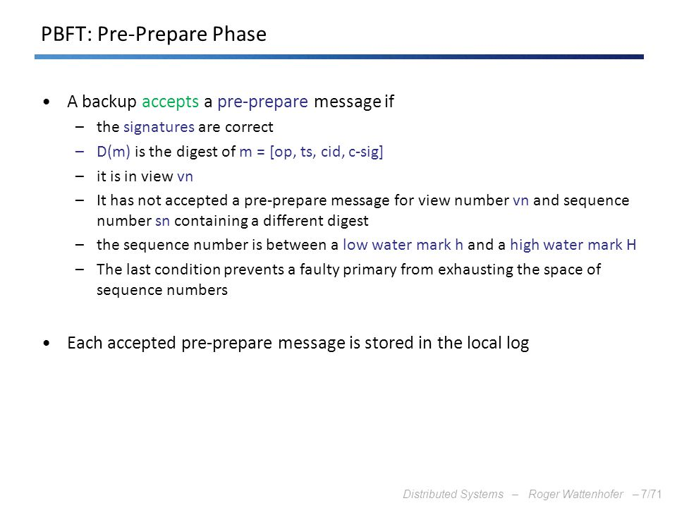 PBFT: Pre-Prepare Phase
