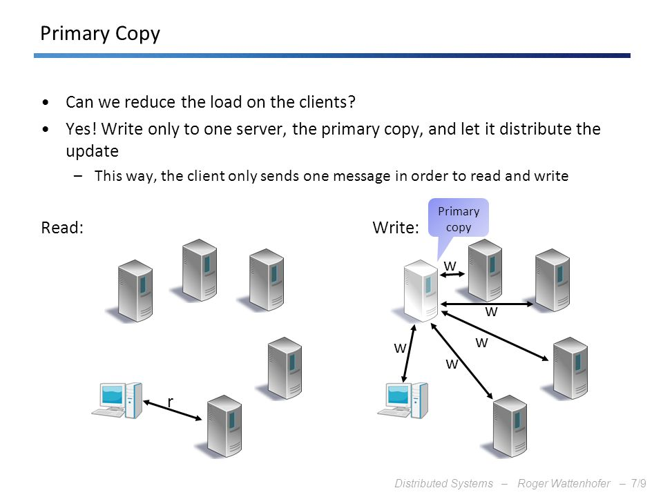 Primary Copy Can we reduce the load on the clients