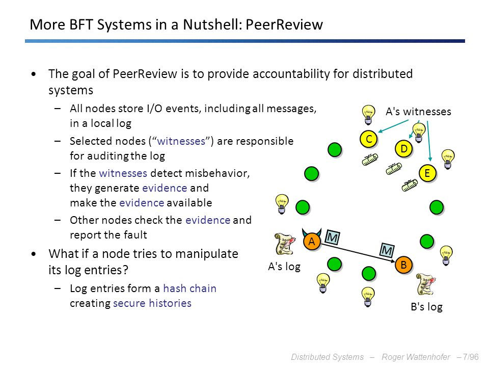 More BFT Systems in a Nutshell: PeerReview