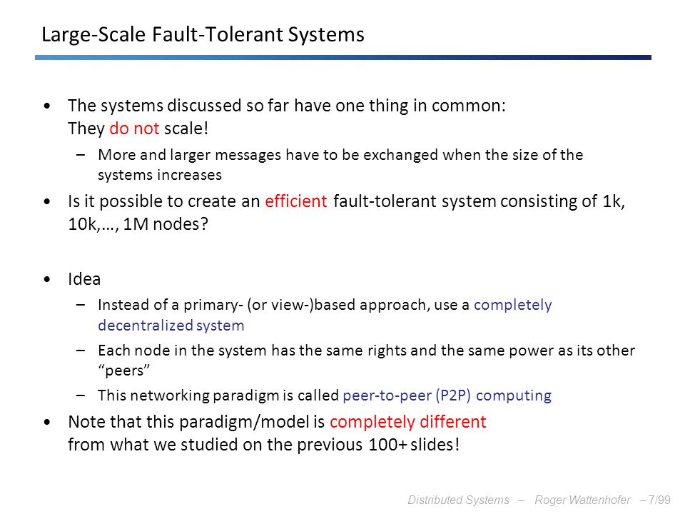Large-Scale Fault-Tolerant Systems
