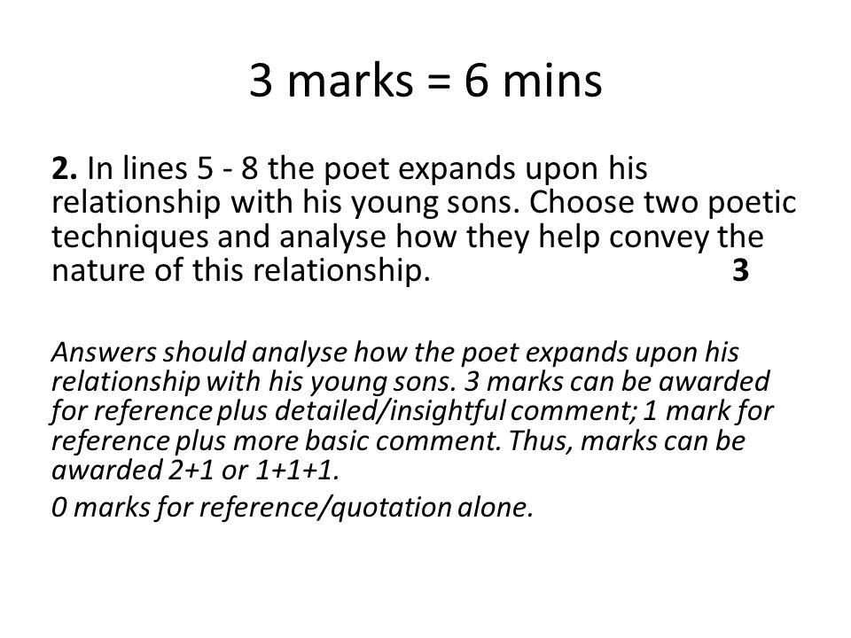 3 marks = 6 mins