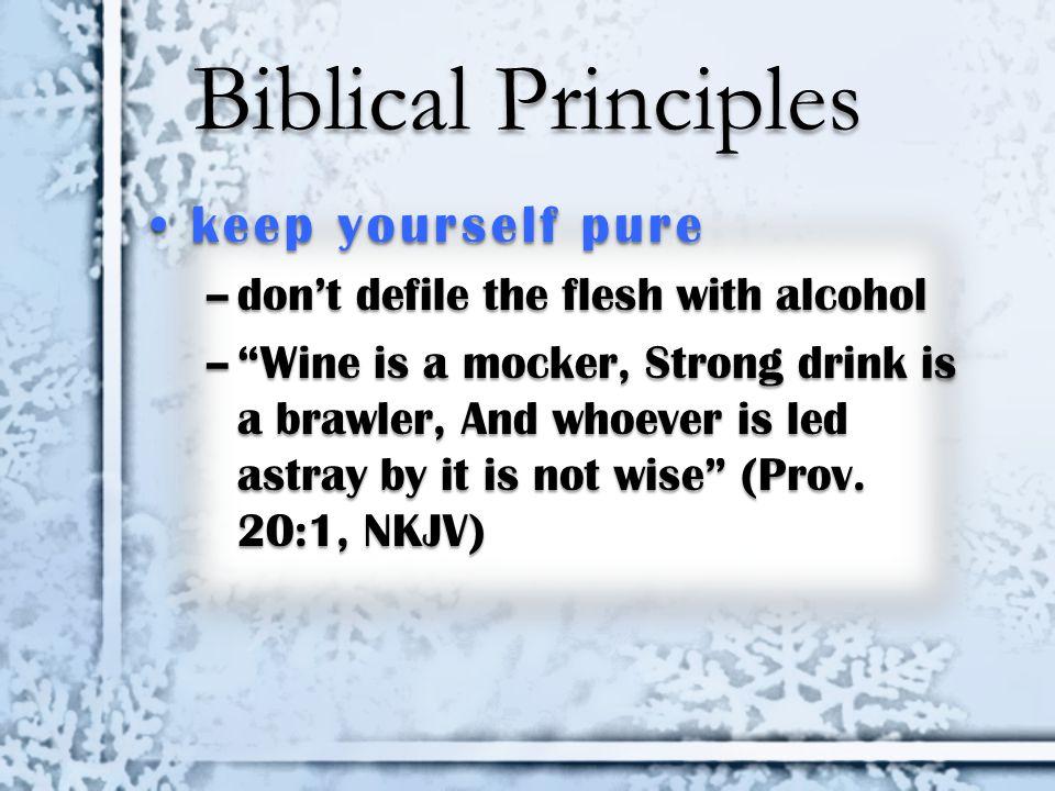 Biblical Principles keep yourself pure
