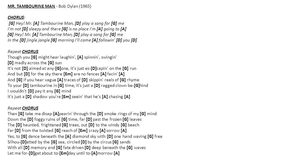 MR. TAMBOURINE MAN - Bob Dylan (1965)