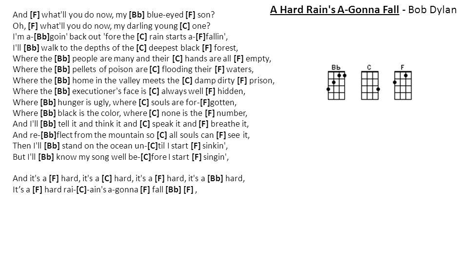 A Hard Rain s A-Gonna Fall - Bob Dylan