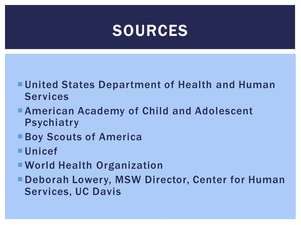 SOURCES United States Department of Health and Human Services