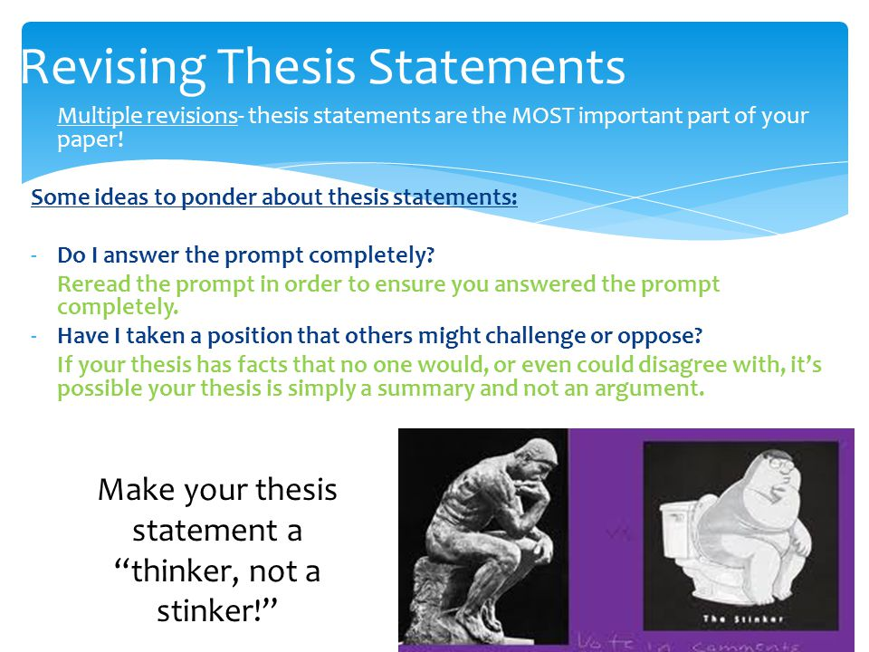 revising thesis statements