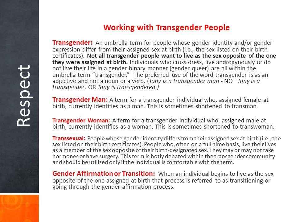 Working with Transgender People