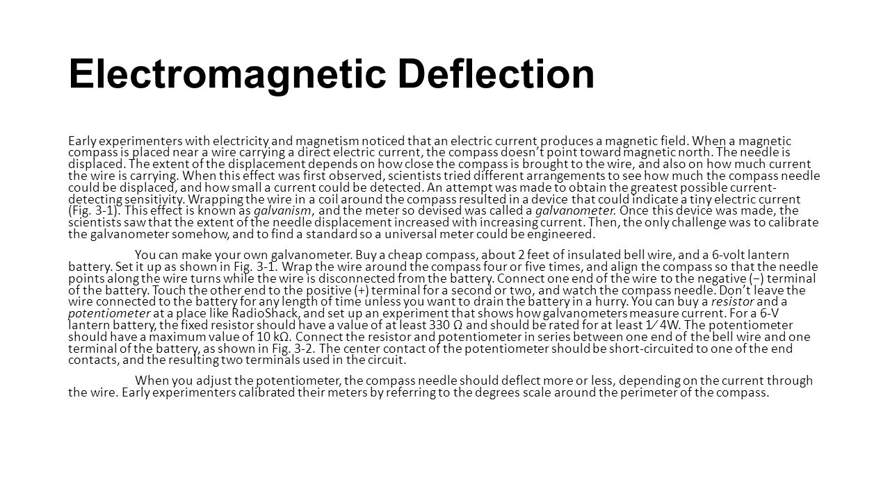 Electromagnetic Deflection