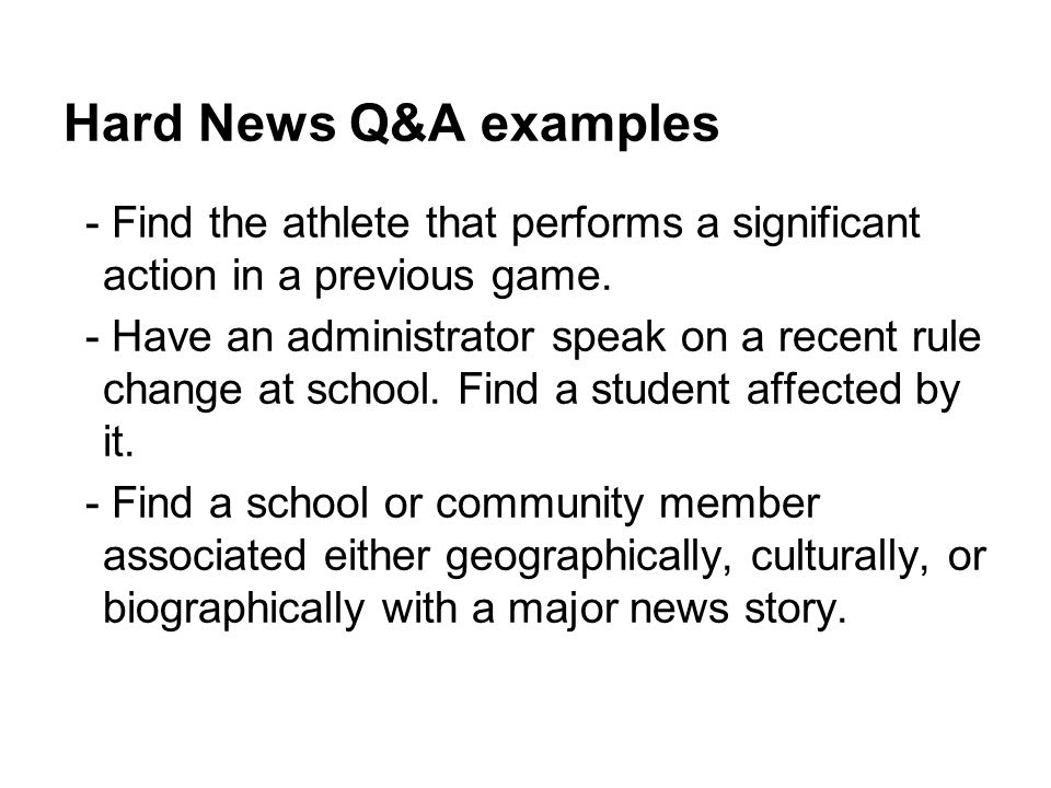 Hard News Q&A examples - Find the athlete that performs a significant action in a previous game.