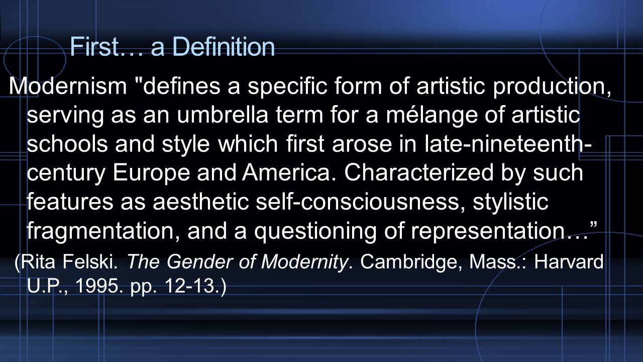 First… a Definition