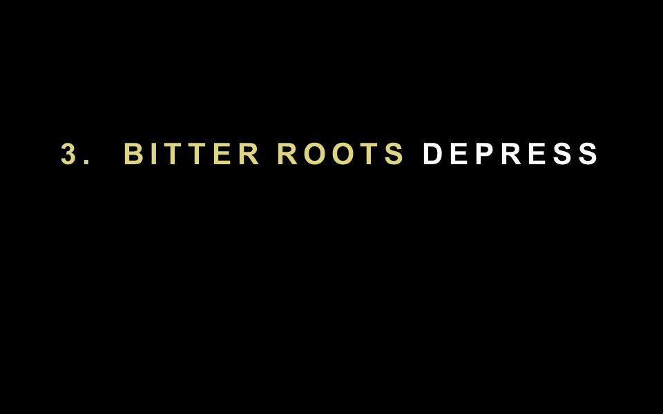 3. BITTER ROOTS DEPRESS