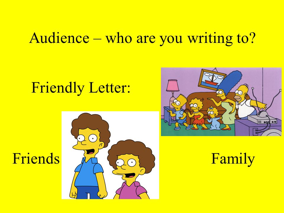 Audience – who are you writing to