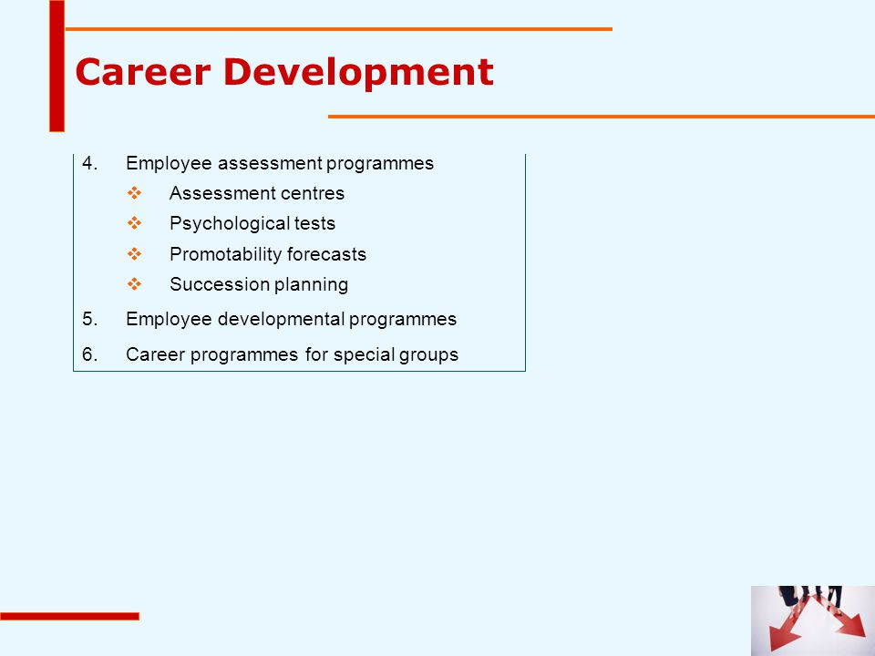 Career Development 4. Employee assessment programmes