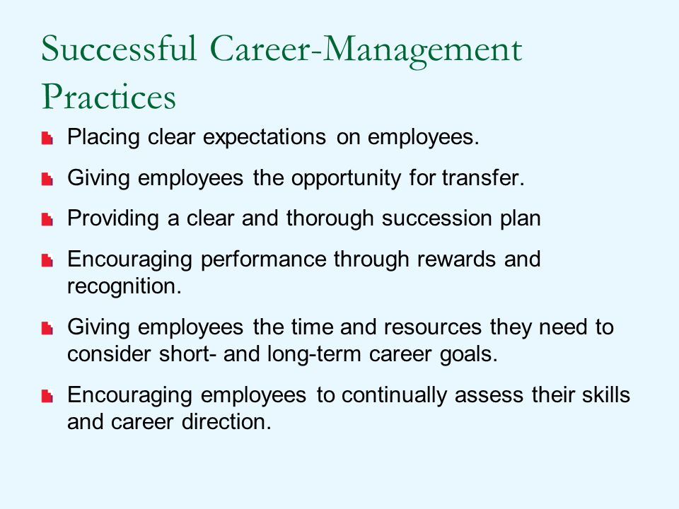 Successful Career-Management Practices