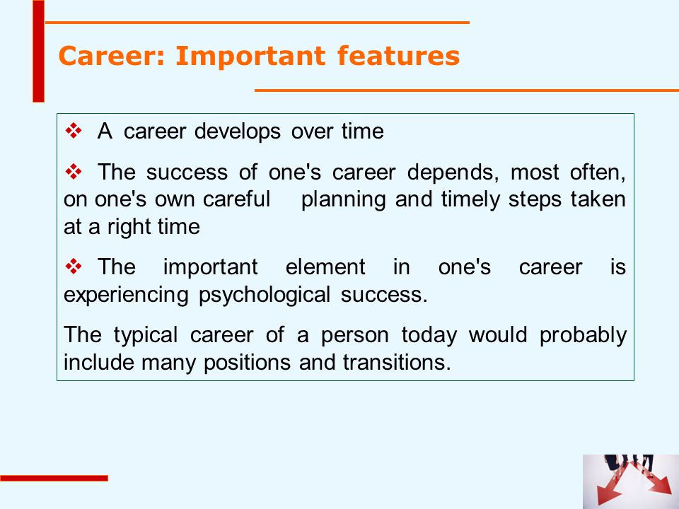 Career: Important features