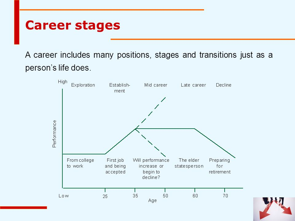 Career stages A career includes many positions, stages and transitions just as a person's life does.