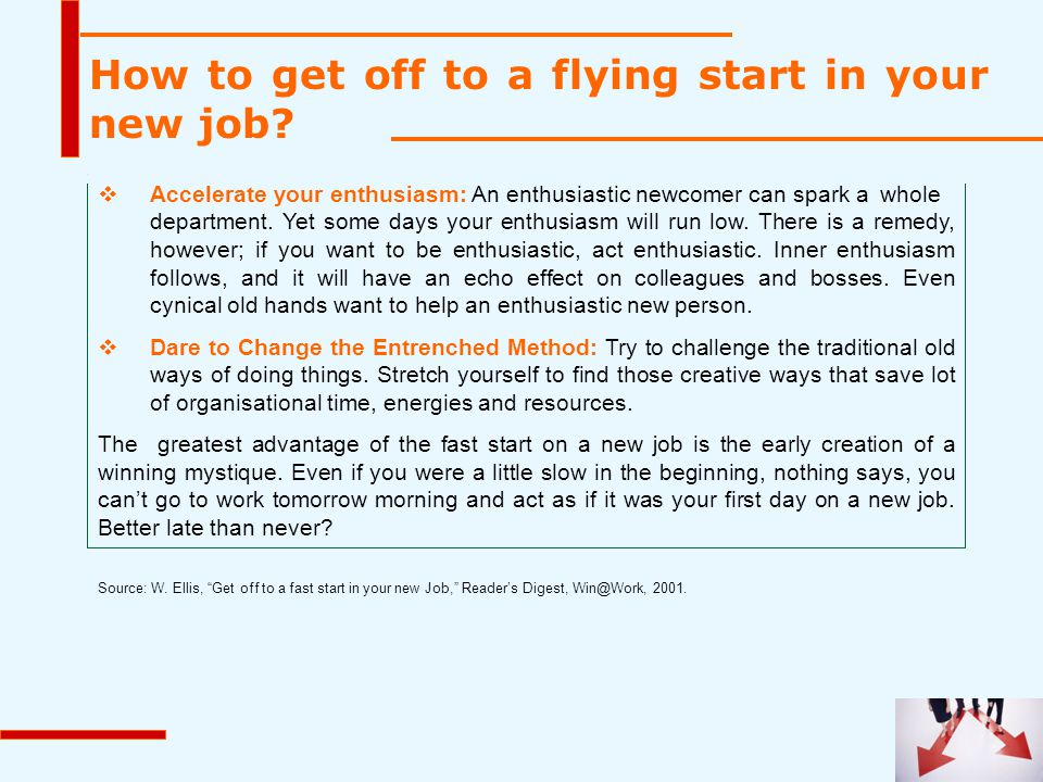 How to get off to a flying start in your new job