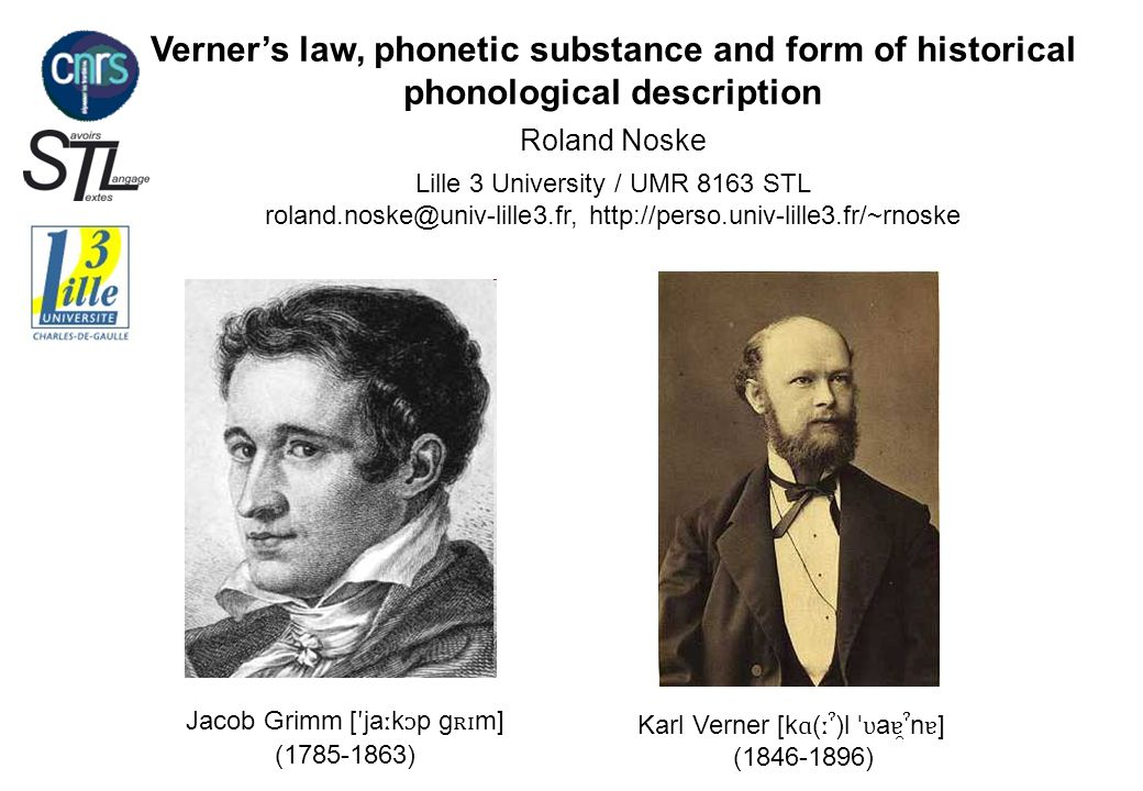 Verner's law, phonetic substance and form of historical phonological description