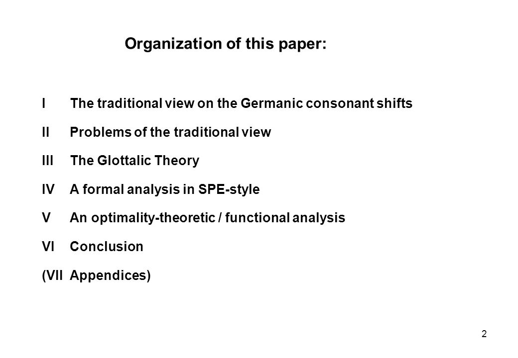 Organization of this paper: