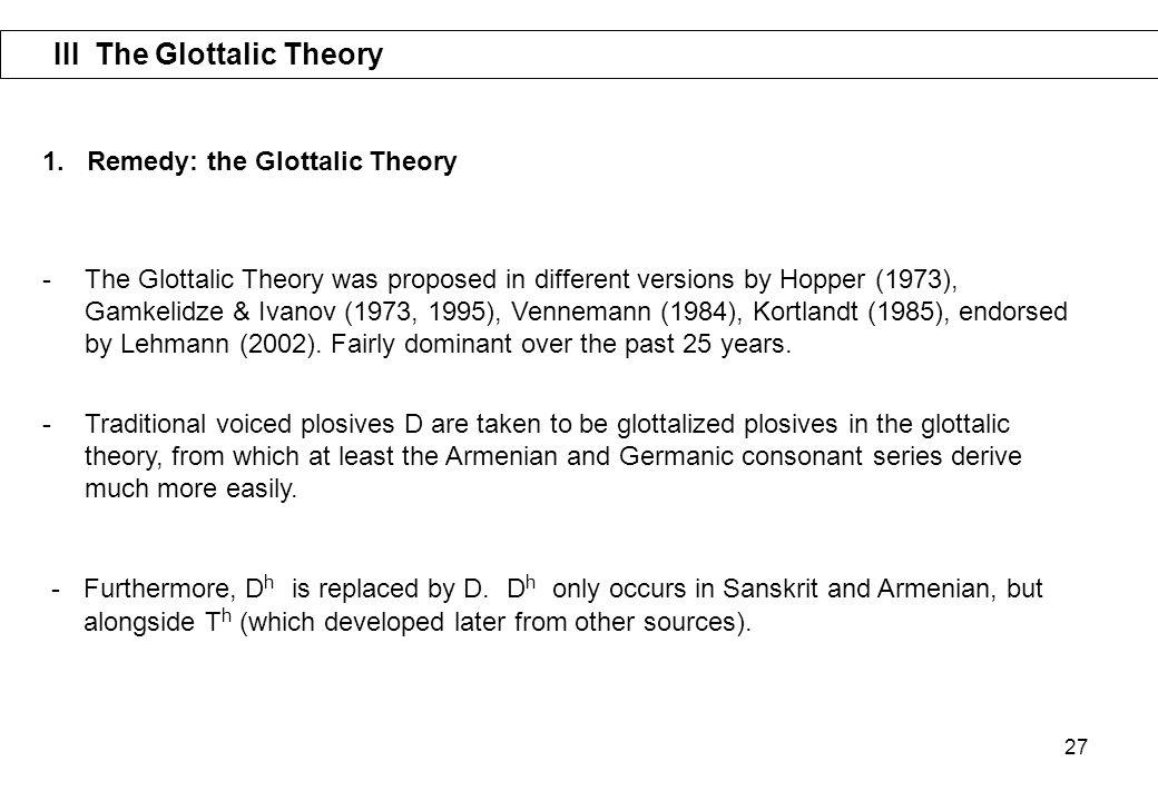 III The Glottalic Theory