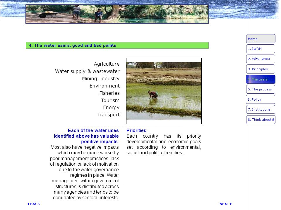 Water supply & wastewater Mining, industry Environment Fisheries