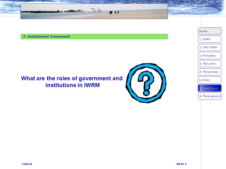 What are the roles of government and