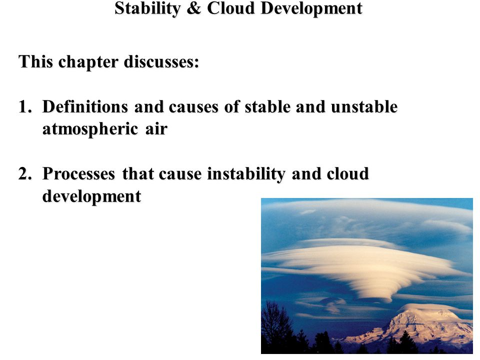 Stability & Cloud Development