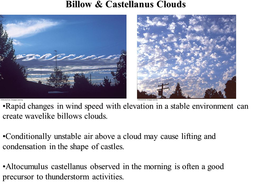 Billow & Castellanus Clouds