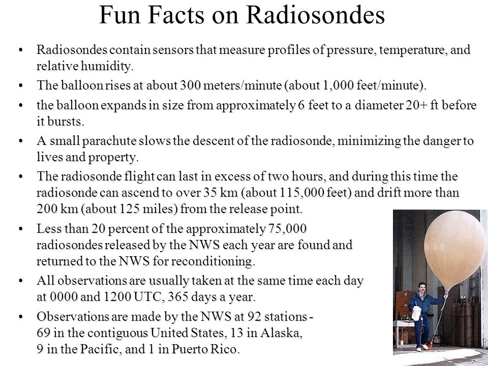 Fun Facts on Radiosondes