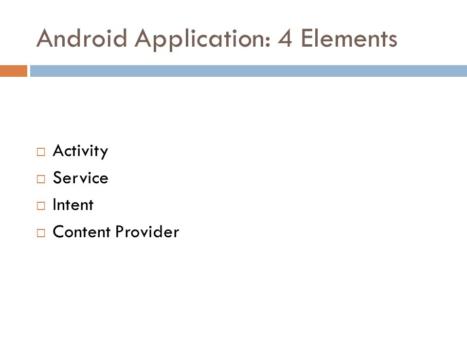 Android Application: 4 Elements
