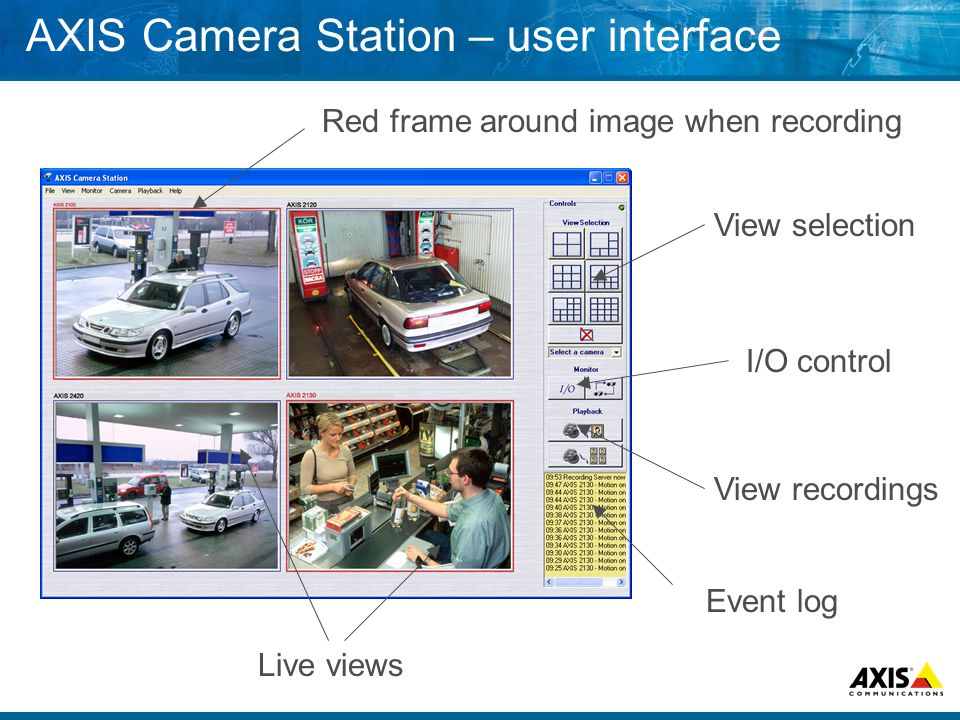 AXIS Camera Station – user interface