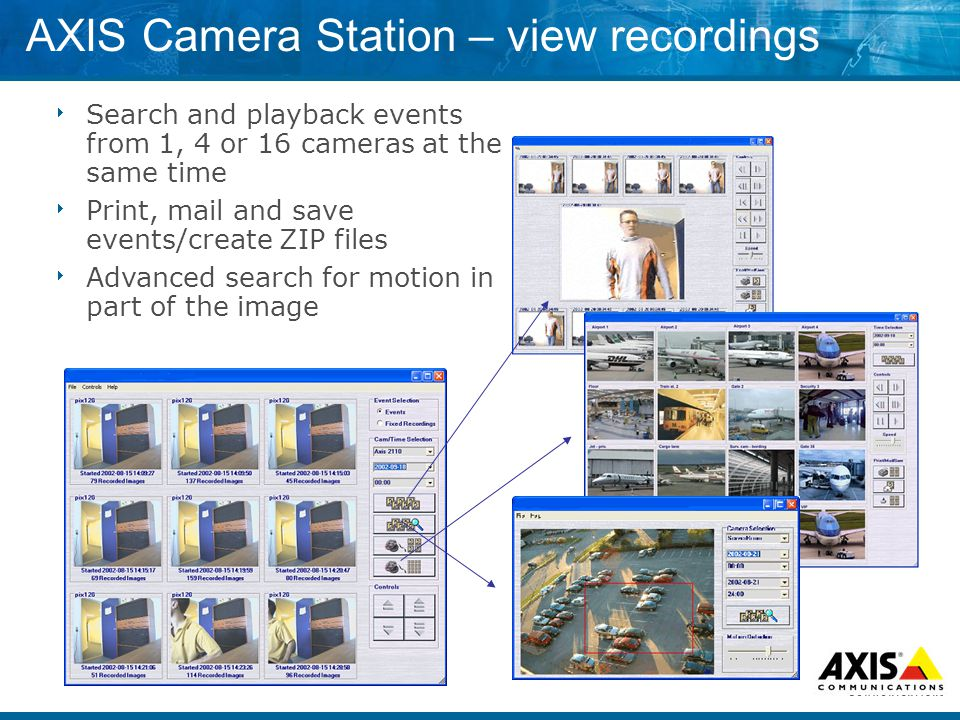 AXIS Camera Station – view recordings