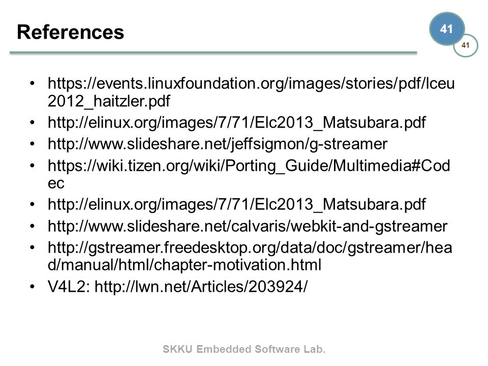 References https://events.linuxfoundation.org/images/stories/pdf/lceu2012_haitzler.pdf. http://elinux.org/images/7/71/Elc2013_Matsubara.pdf.